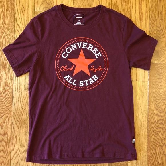 740e7b01051a Converse Tops - 👟 Converse All Star t-shirt maroon sz XS
